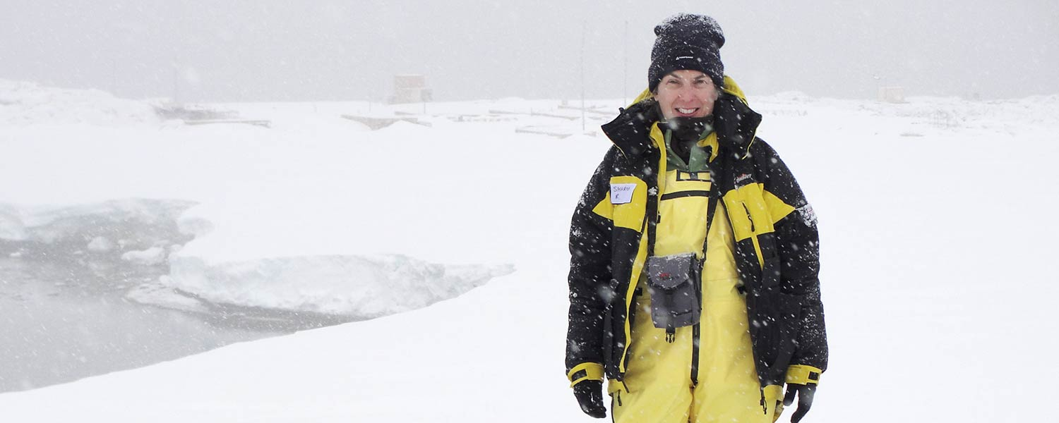 Sharon Robinson in Antarctica